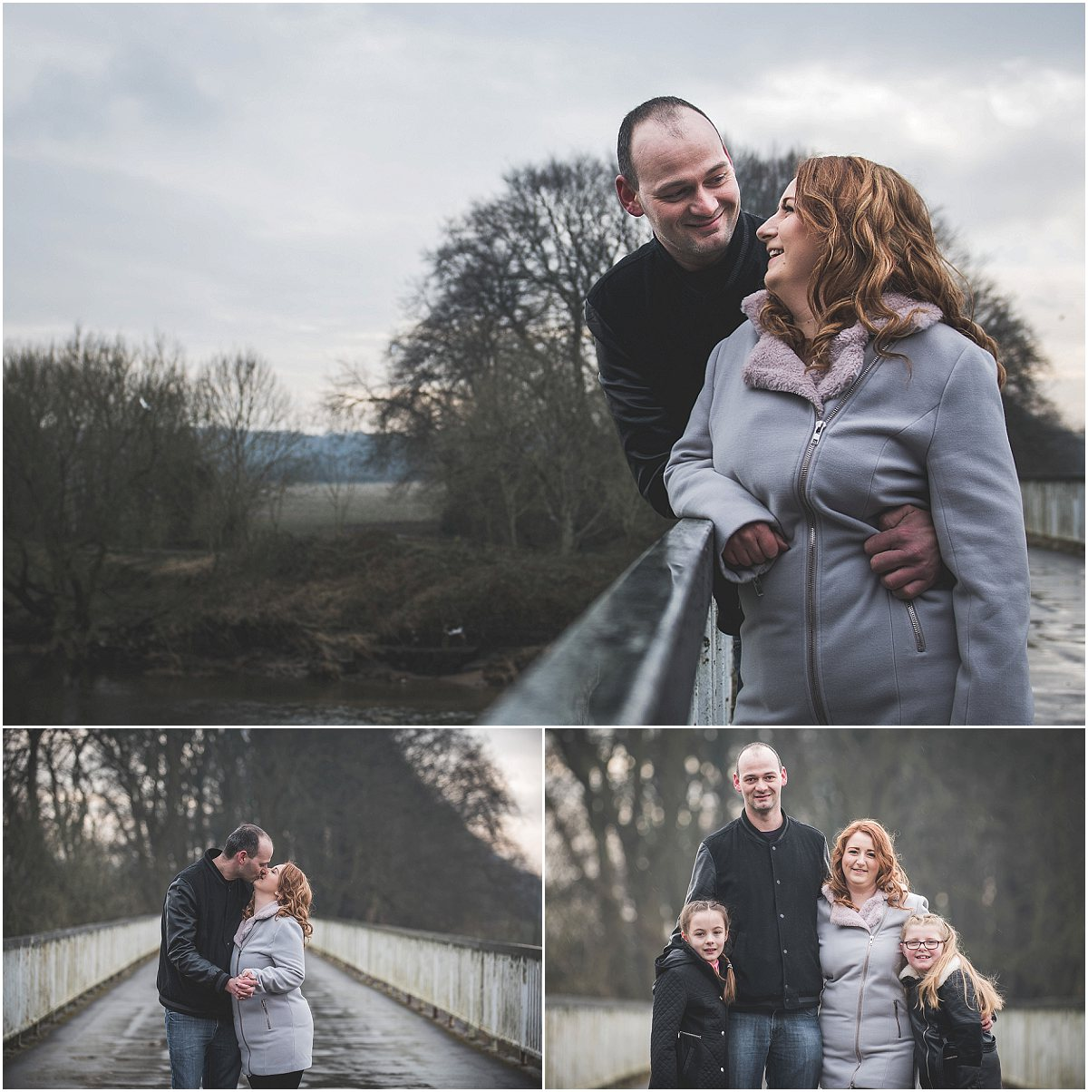 Sharing moments on a bridge - Avenham Park Pre-Wedding Shoot