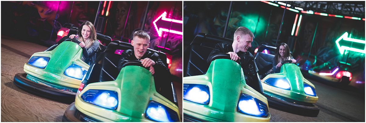 Dodgems at Blackpool South Pier - Pre-Wedding Shoot