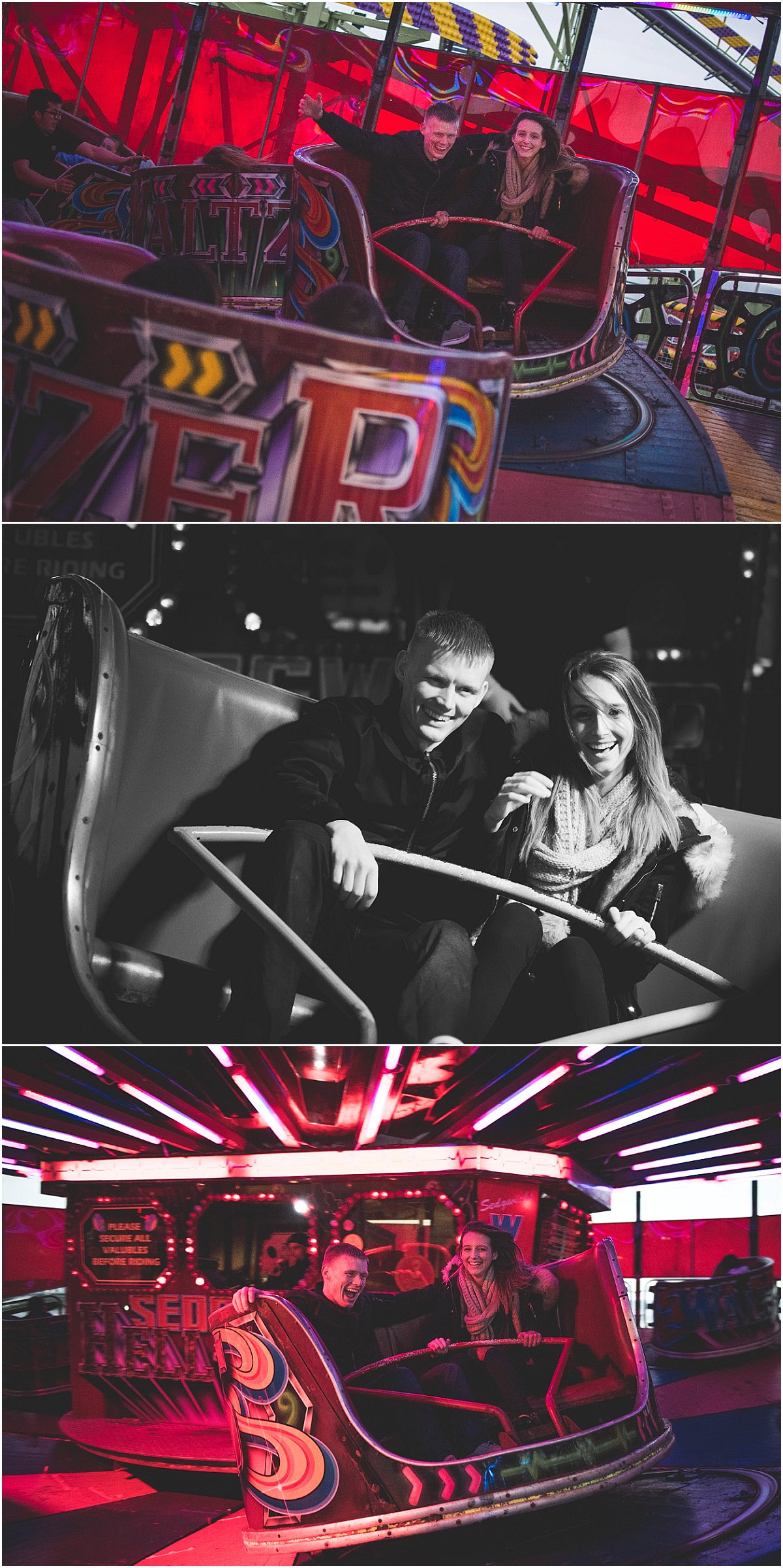 Waltzer at Blackpool South Pier - Pre-Wedding Shoot