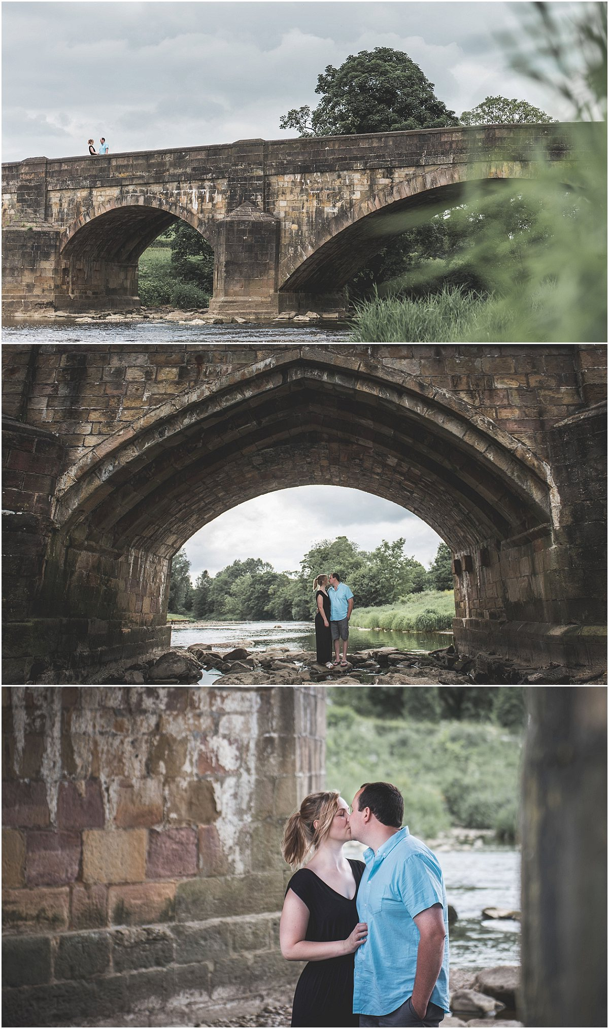 Couple Photoshoot on Edisford Bridge | Preston Wedding Photographer