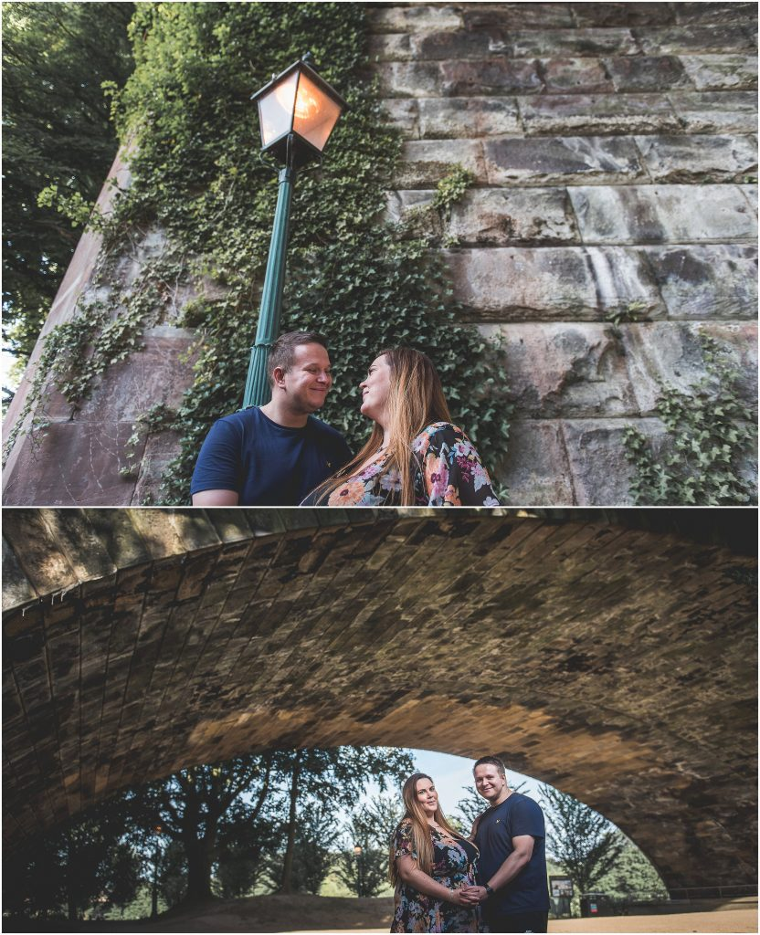 Avenham Park Pre-Wedding Shoot | Sharing a moment under the bridge
