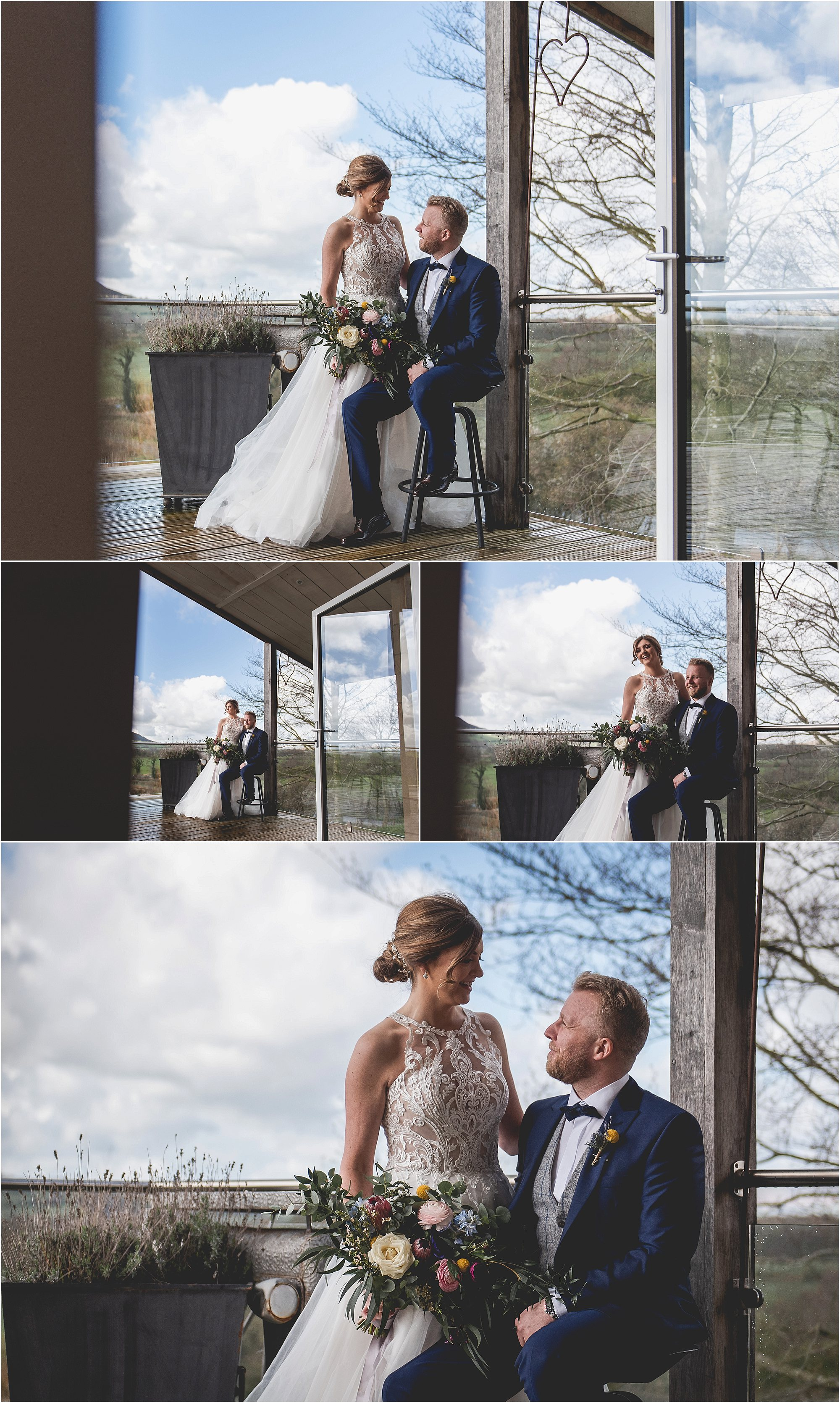 having an intimate moment on your wedding day at Bashall barn
