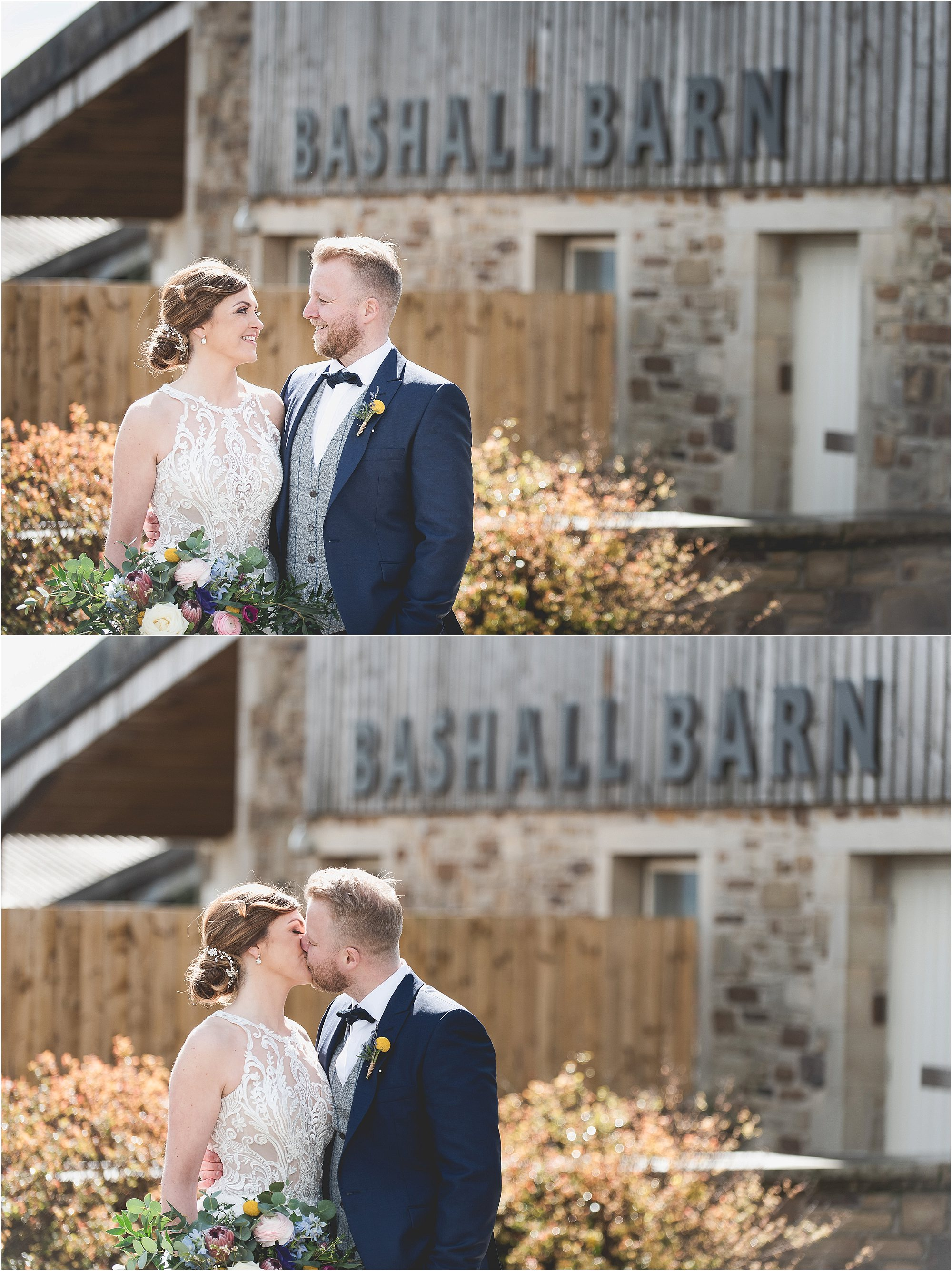 Couple sharing a moment at Bashall Barn