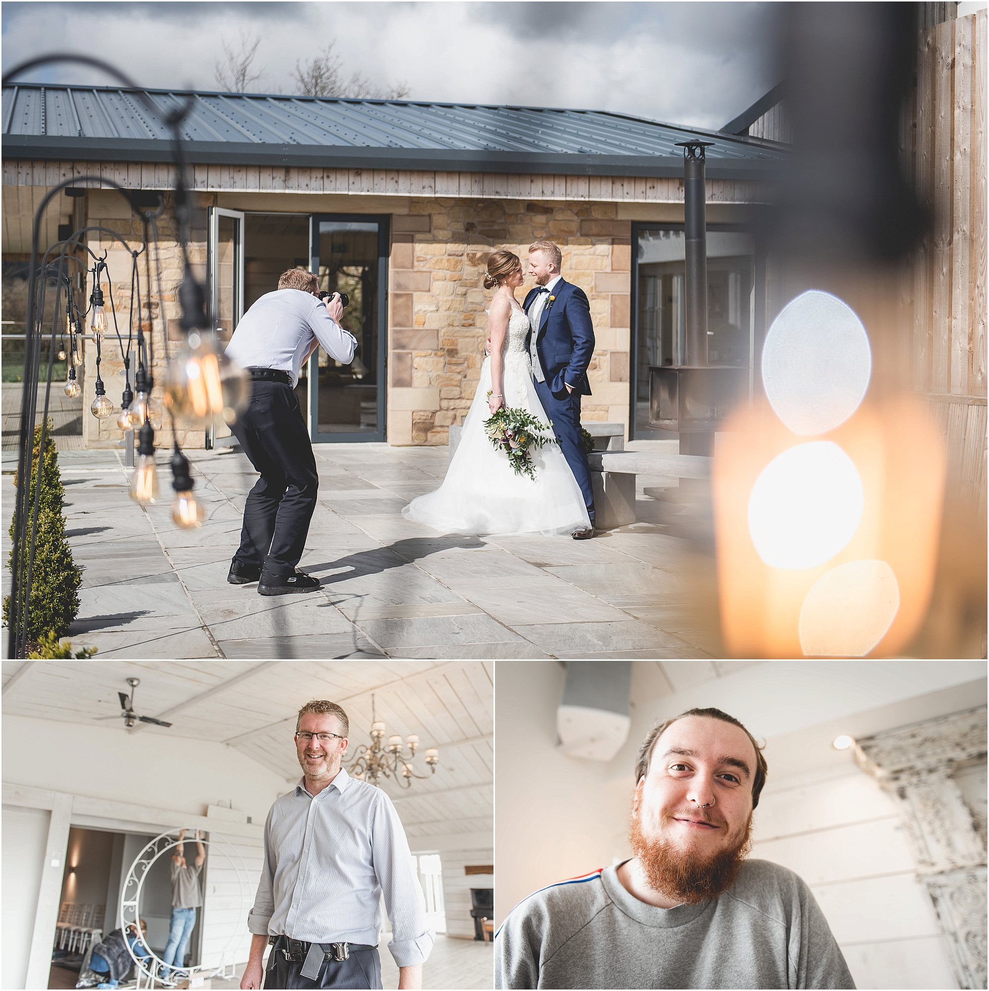 Wedding Photographers finish for the day at Bashall Barn
