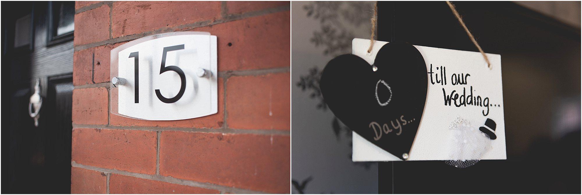 Door number countdown until wedding