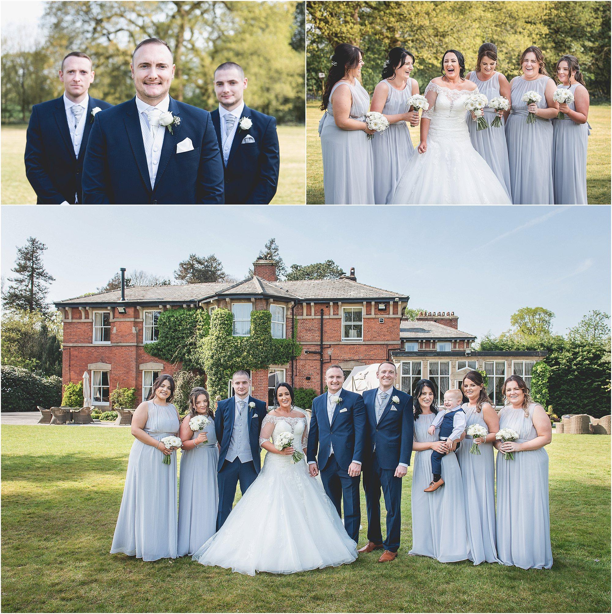 Wedding group shots at bartle hall